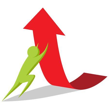 business metaphor: An image of a raising profits business metaphor.