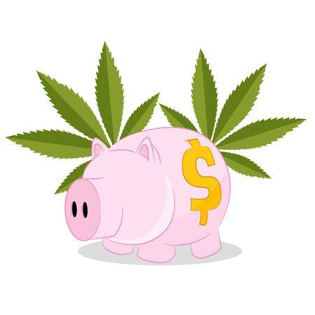rentable: Una imagen de un negocio rentable con la venta de marihuana.