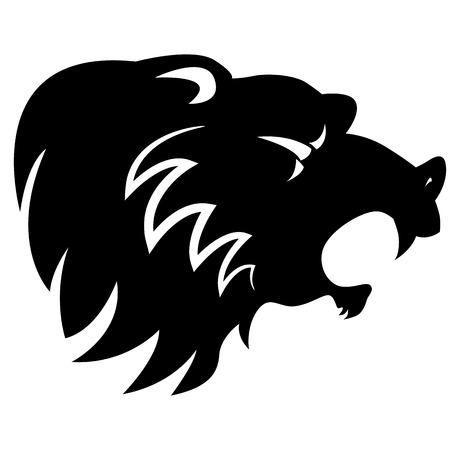 angry bear: An image of an abstract angry bear head.
