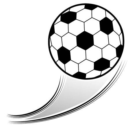An image of a soccer ball in the air. Illusztráció