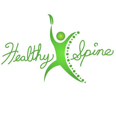 columna vertebral: Una imagen de un icono de fondo columna vertebral sana.