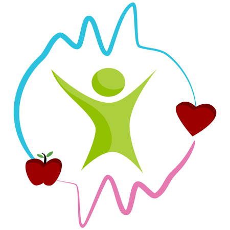 dieting: An image of a healthy heart by dieting abstract icon.