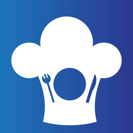 An image of a meal symbol with chef hat toque.