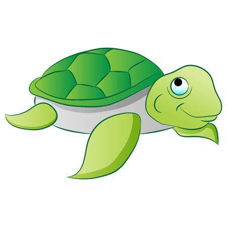 An image of a sea turtle. Ilustrace