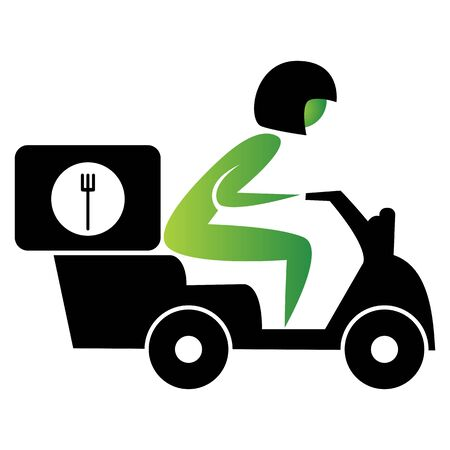 An image of a food delivery scooter.