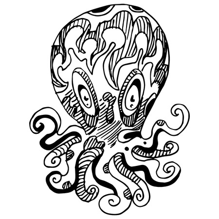 wierd: An image of a wierd octopus.