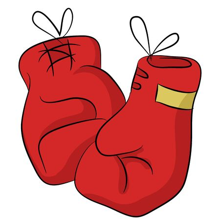 An image of a pair of boxing gloves. Çizim