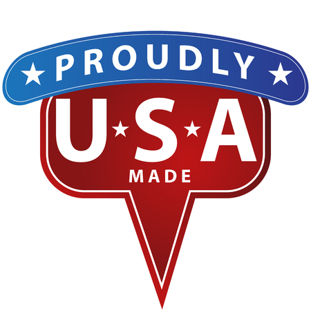 made in: An image of a proudly made in USA icon.