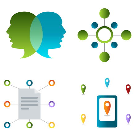 communication icons: An image of a set of communication icons.