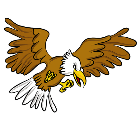 An image of a angry eagle cartoon. Illustration