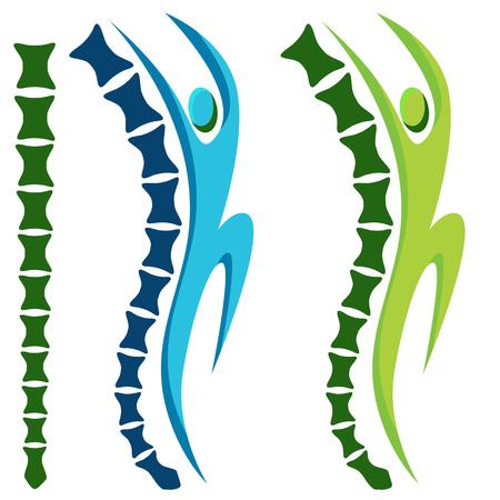 hombre: Una imagen de un icono de la columna vertebral sana hombre activo.