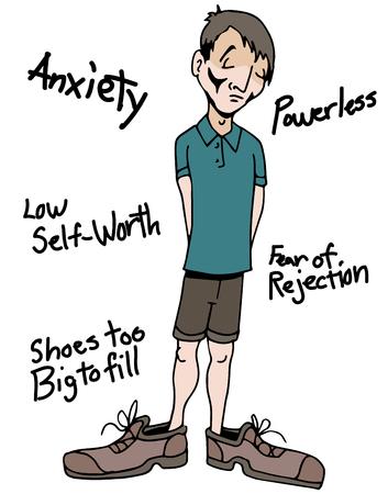 무능력의 감정을 가진 남자의 이미지.