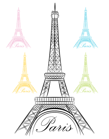 An image of a fancy Paris Eiffel Tower Icon.