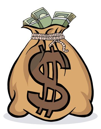 businesses: An image of a big money bag.