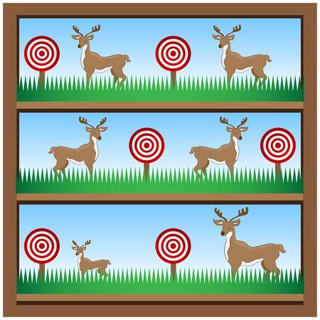 An image of deer hunting shooting gallery.