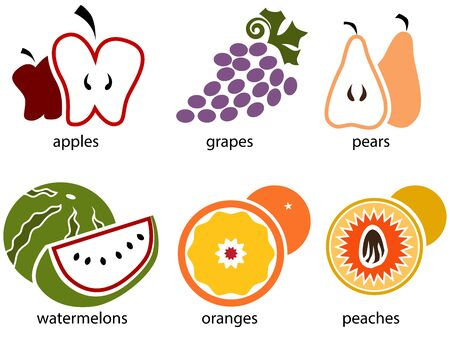apples and oranges: An image of a fruit food set.