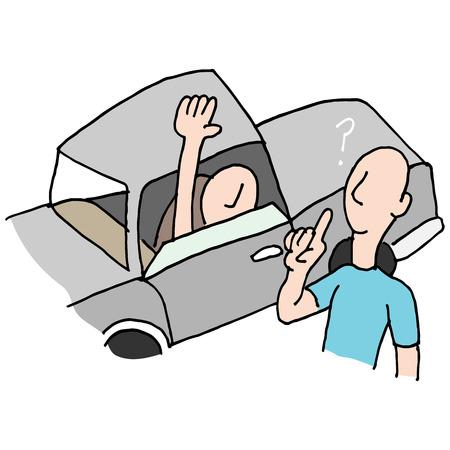 preguntando: Una imagen de un controlador de preguntar direcciones.
