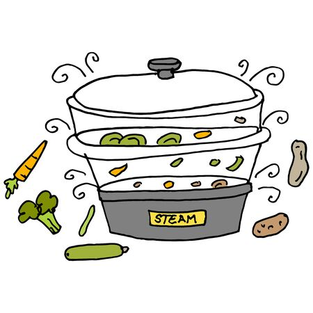 steam cooker: An image of a steam machine cooker.