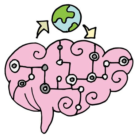 An image of a artificial intelligence brain.