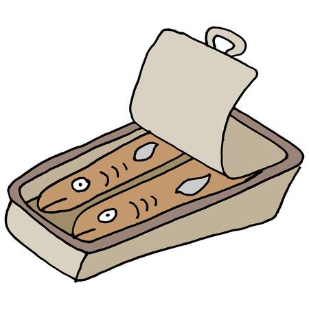 sardinas: Una imagen de una lata de sardinas.