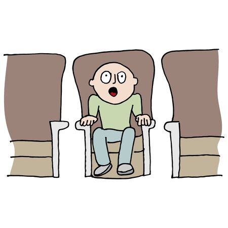 An image of a Amazed movie watcher.