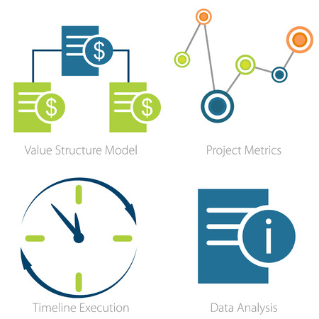 metrics: An image of a Business metrics icon set.