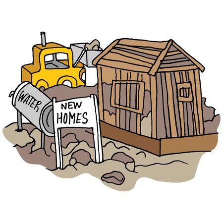 Ein Bild von einer neuen Heimat Baustelle. Standard-Bild - 55684115