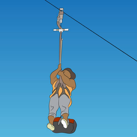 art activity: An image of a female African zip line rider.