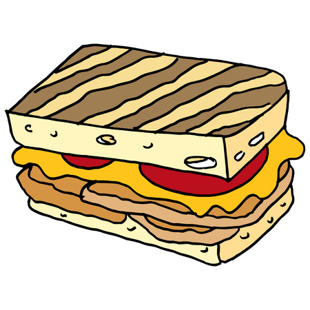 grilled: An image of a chicken panini sandwich