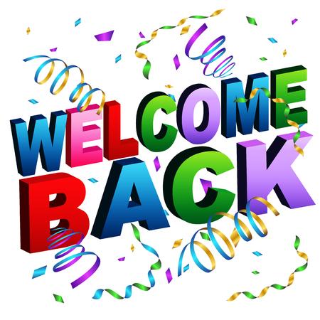 Ein Bild von einer Begrüßung zurück Nachricht. Standard-Bild - 55942900