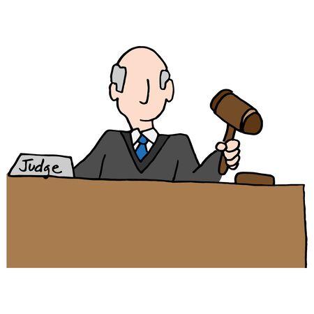 Ein Bild von einem Richter Halte Hammer. Standard-Bild - 55942904