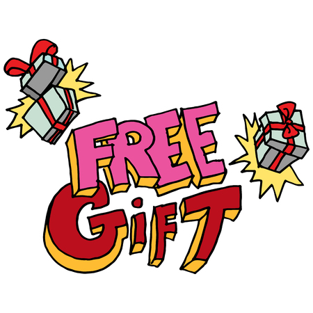 free gift: An image of a free gift message.