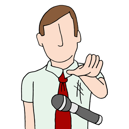 mics: An image of a businessman dropping the mic.