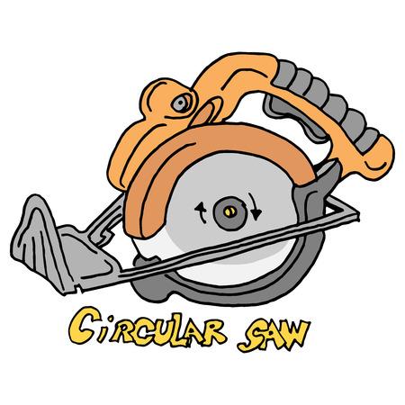 An image of a circular saw power tool.