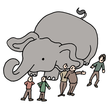An image of a community of people elephant in the room.