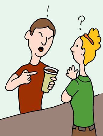 bad service: An image of a angry male customer. Illustration