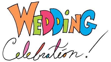 결혼식 축하 메시지의 이미지입니다. 스톡 콘텐츠 - 56354800