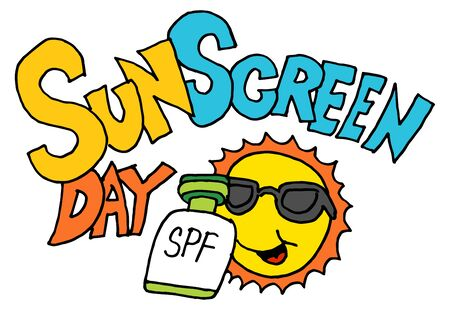 An image of a sunscreen day.