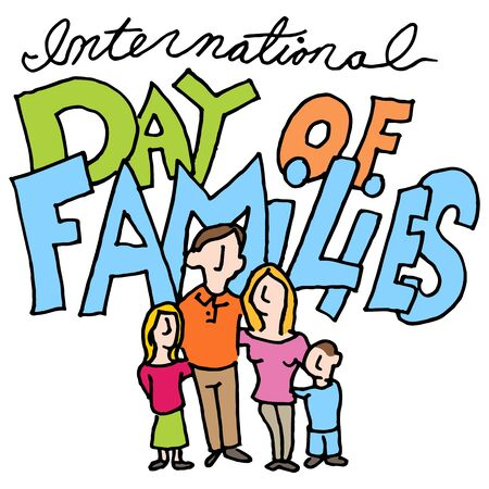 An image of a international day of families. Çizim