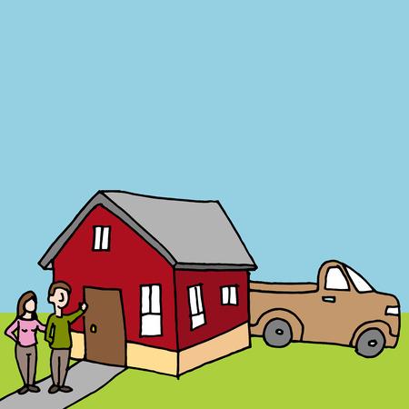 tiny: An image of a tiny house.
