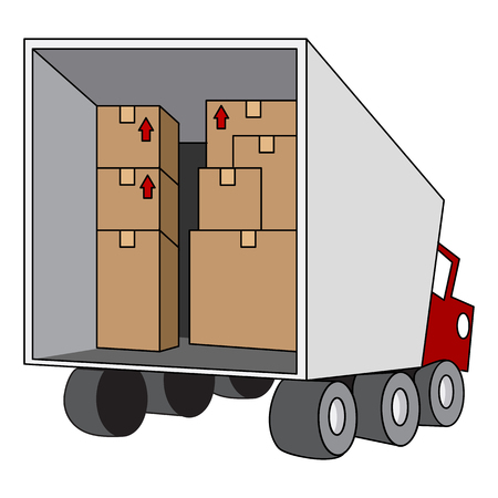 moving truck: An image of a moving relocation truck.