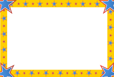 square image: An image of a circus star square frame emblem.