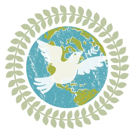 world peace: An image of a World Peace Dove.