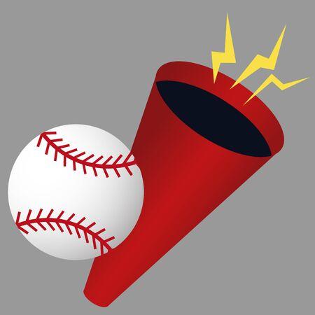 An image of a baseball megaphone. Illustration