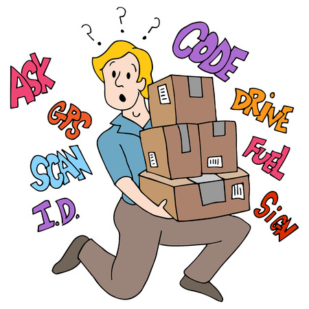An image of a lossed delivery driver.