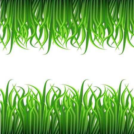 An image of a grass blade border pattern. Ilustrace