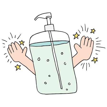 An image of a clean hands using hand sanitizer.