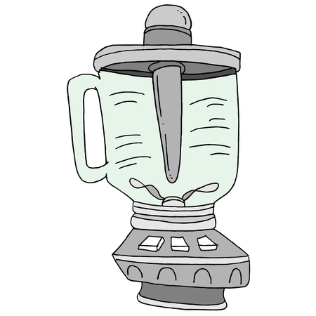 An image of a smoothie blender drawing. Illusztráció