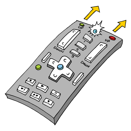 An image of a retro remote control Иллюстрация