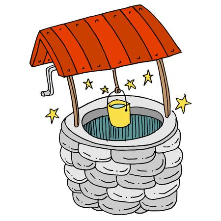 幸運な願い事の井戸の画像です。  イラスト・ベクター素材
